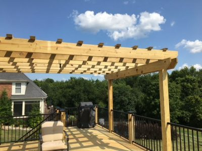 Patio roof project of Deck Unlimited in Louisville,KY.
