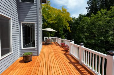 Deck staining project by Decks Unlimited in Louisville, KY.